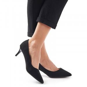 Pantofi stileto cu toc mic din velur Clara