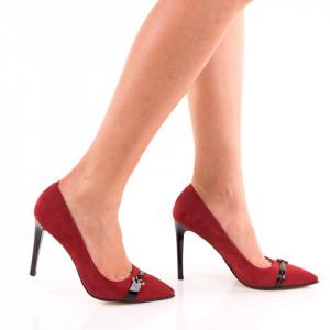 Pantofi Stiletto din piele naturala Monalisa