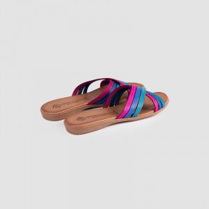 Papuci dama din piele naturala Carolina Boix fuxia