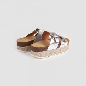 Papuci dama, FLORA, Argintiu