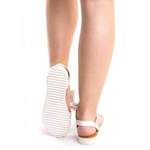 Sandale cu talpa joasa Eva alb