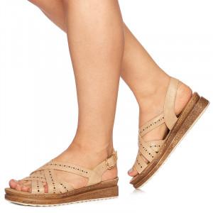 Sandale cu talpa joasa Grazia bej