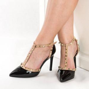 Sandale cu toc chic Emilia