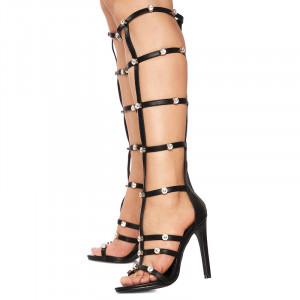 Sandale cu toc inalt Valentina negru