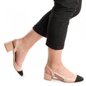 Sandale cu toc mic elegante Martina pink