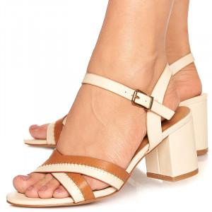 Sandale cu toc mic gros Linda