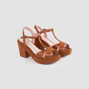 Sandale dama, COLETTA, Tan