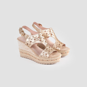 Sandale dama, EVITA, Auriu