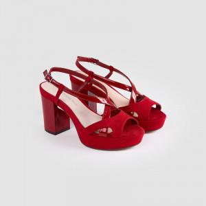 Sandale dama, GAIA, Rosu