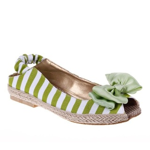 Sandale dama joase verde/alb Sensation