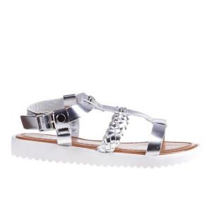 Sandale dama Wheat argintiu