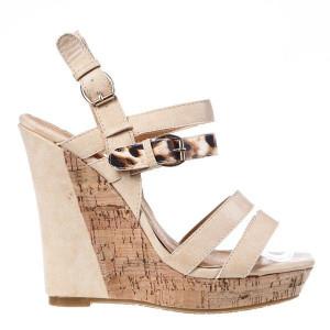Sandale platforma Esme beige
