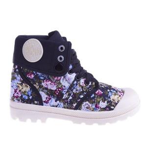 Sneakers Flower Power black