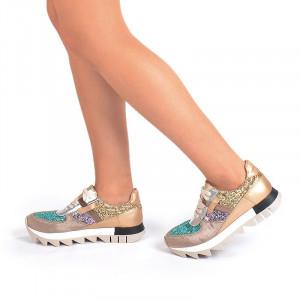 Sneakers la moda bronze Salma