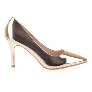 Pantofi stiletto metalic Adria