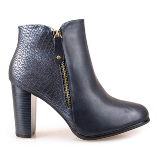 Botine cu toc office Andrada Blue