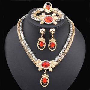 Colier cu pandativ bijuterie eleganta Reina Sofia in set de colier cercei si bratara