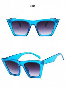 Ochelari de soare vintage cu model patrat Giuliana albastru