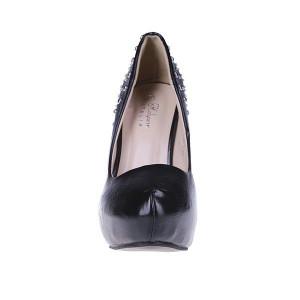 Pantofi Adelheid negru/pu