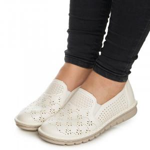 Pantofi casual cu talpa usoara Ania alb