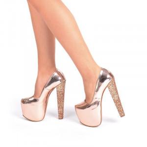 Pantofi cu platforma Angelina bronze