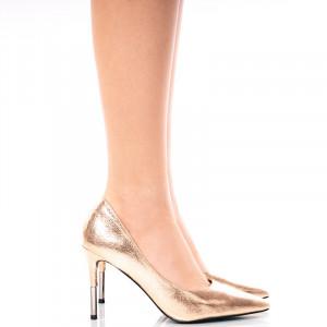 Pantofi dama stiletto cu toc Inalt Alma auriu
