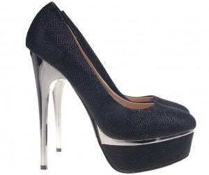 Pantofi negrii cu platforma Goldie