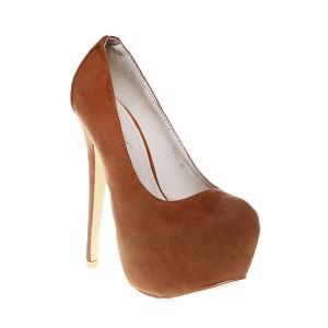 Pantofi platforma camel