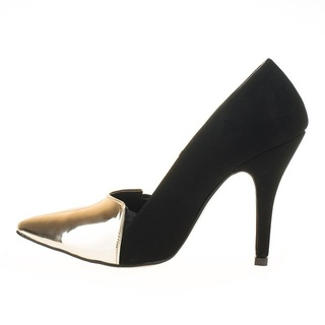 Pantofi stiletto auriu Coco