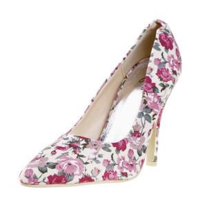 Pantofi stiletto cu flori Tina