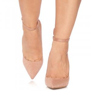Pantofi stiletto cu toc inalt din velur Giulietta