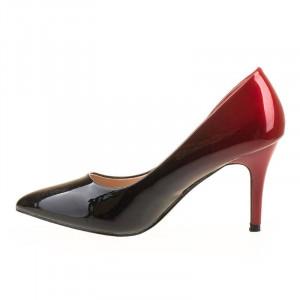 Pantofi stiletto cu toc mediu elegant Ami Red