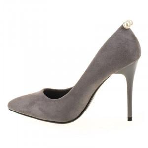 Pantofi stiletto din velur Alma gri