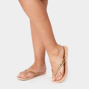 Papuci dama CARA, crem