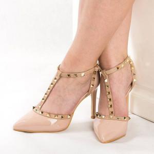 Sandale cu toc chic Emilia pink