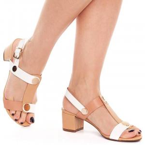 Sandale cu toc mic Maria nude