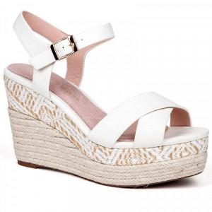 Sandale dama, ABBY, Alb