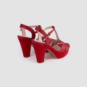 Sandale dama, CARO, Rosu
