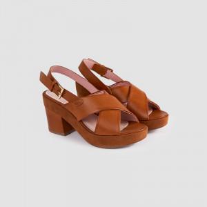 Sandale dama, CLARISA, Tan