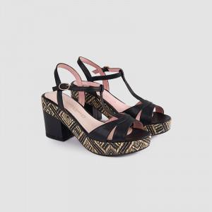 Sandale dama, DIALA, Negru