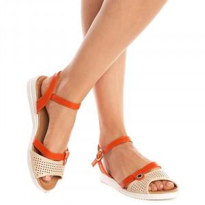 Sandale lejere Camelia arancia