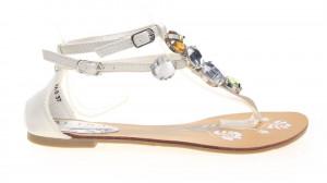 Sandale dama joase albe Spark