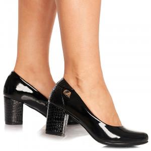 Pantofi office cu toc mediu Carole