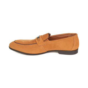 Pantofi Barbati Loafer din Velur Alberto Bej
