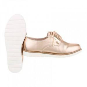 Pantofi casual dama, auriu