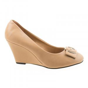 Pantofi chic cu platforma Bianca bej
