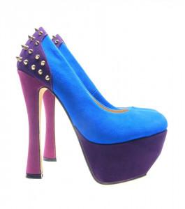 Pantofi dama albastri Spider