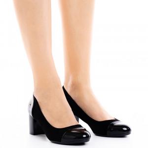 Pantofi dama office cu toc mic Agace negru