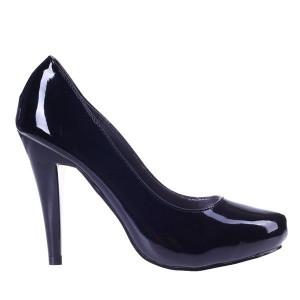 Pantofi negri lacuiti Ariel
