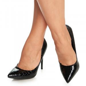 Pantofi stiletto cu toc inalt Amadina negru